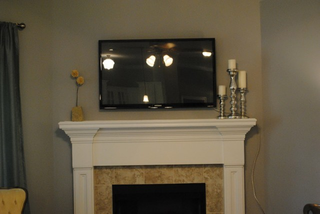 Mounting A Tv Over Fireplace With Cable Box