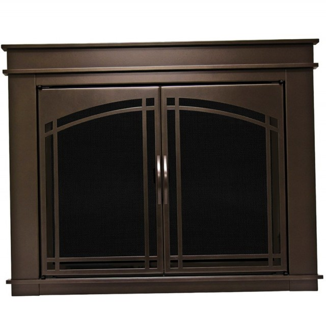 Oil Rubbed Bronze Fireplace Screen