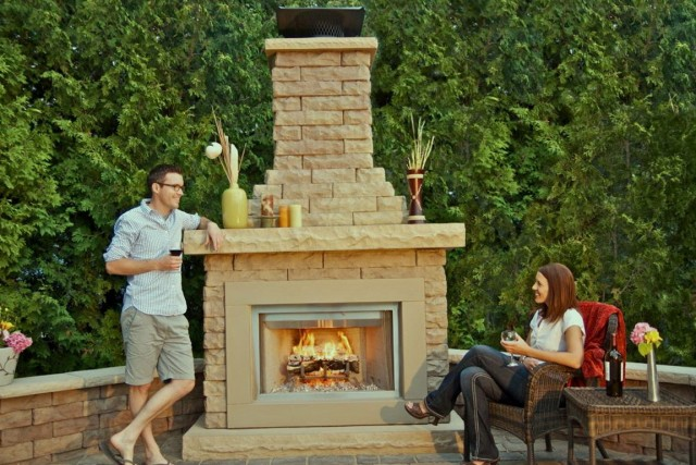 Outdoor Stone Fireplace Kits For Sale