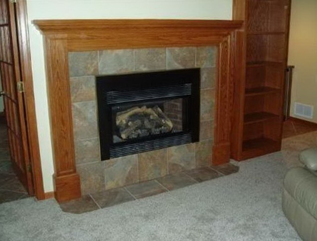 Paint Slate Fireplace Surround