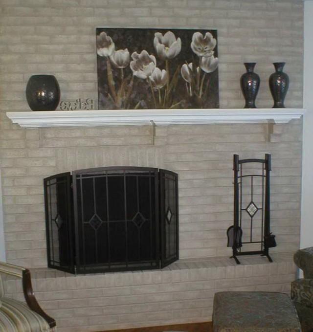 Painted Brick Fireplace Wall Ideas