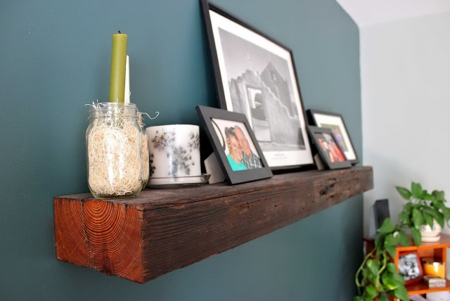 Reclaimed Wood Fireplace Mantel Shelves