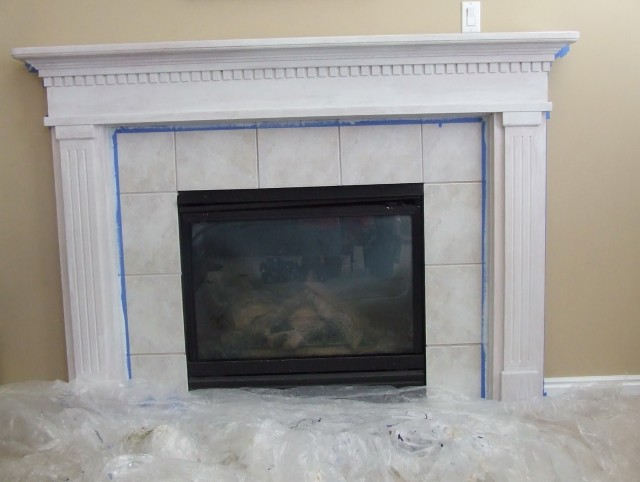Refacing A Brick Fireplace Do It Yourself