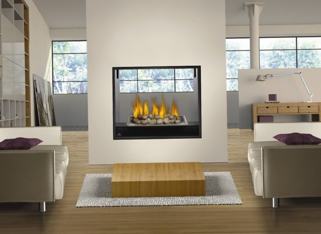 Two Sided Gas Fireplaces Ventless