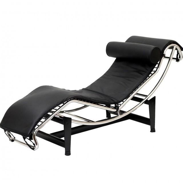 Black Chaise Lounge Chair