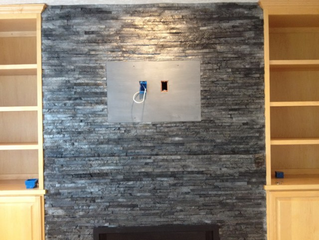 Black Slate Fireplace Tile