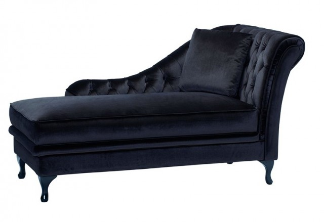Black Velvet Chaise Lounge
