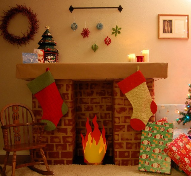 Build Your Own Fireplace Out Of Boxes