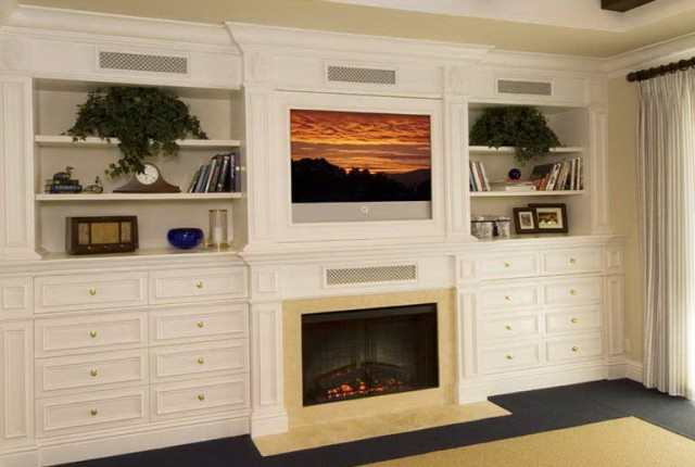 Built In Entertainment Center With Fireplace Plans