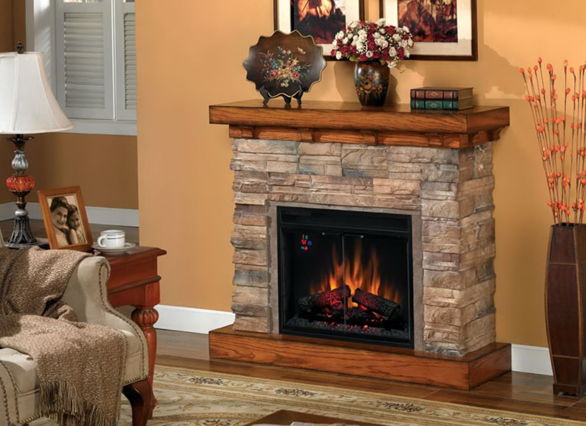 Classic Flame Flagstone Electric Fireplace