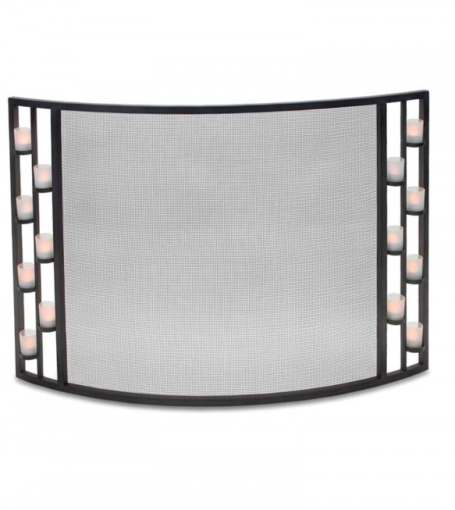 Curved Fireplace Screen Height 28
