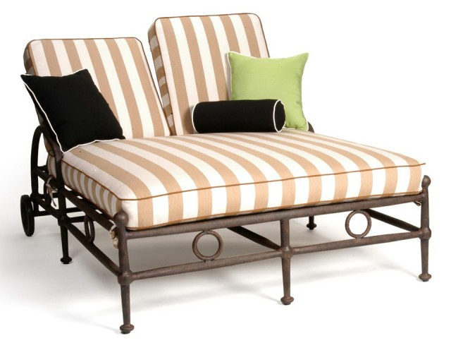 Double Chaise Lounge Outdoor Cushion