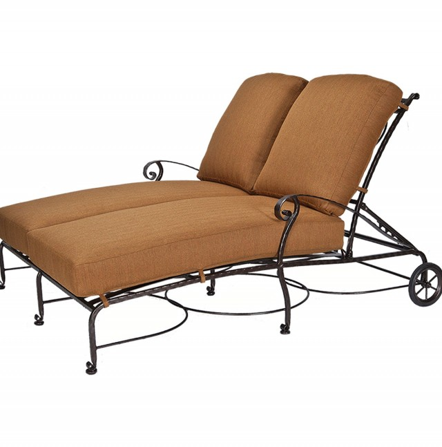 Double Chaise Lounge Outdoor Wrought Iron