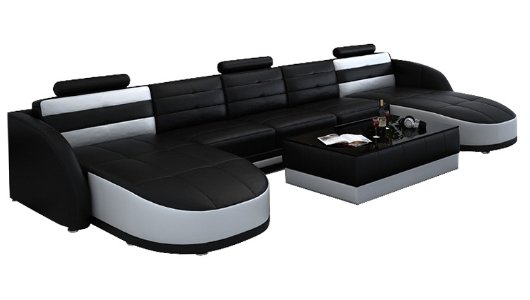 Double Wide Chaise Sofa