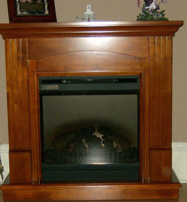 Electric Fireplace Mantel Only