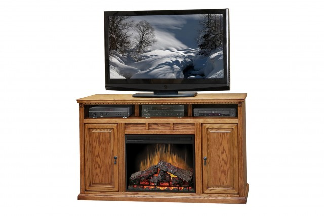 Electric Fireplace Tv Stand Oak