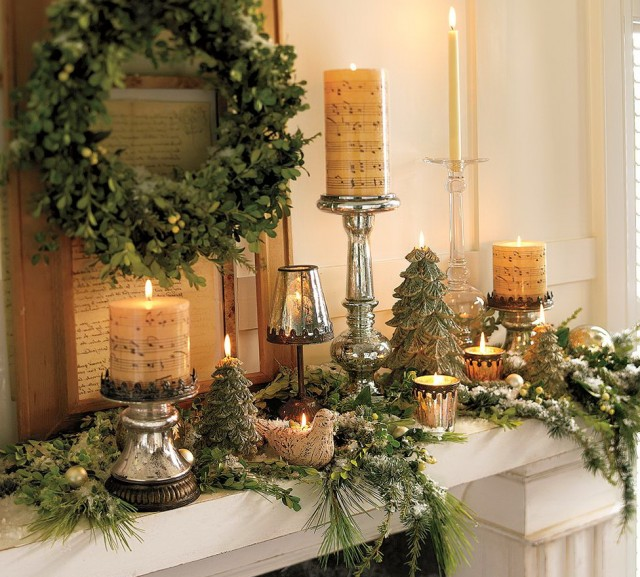 Fireplace Mantel Decorating Ideas For Christmas