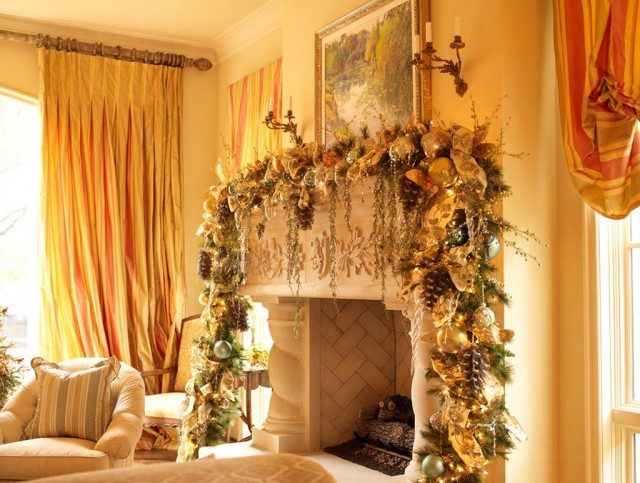 Fireplace Mantels Decorating Ideas For Christmas