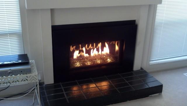 Gas Fireplace Inserts Glass Rocks