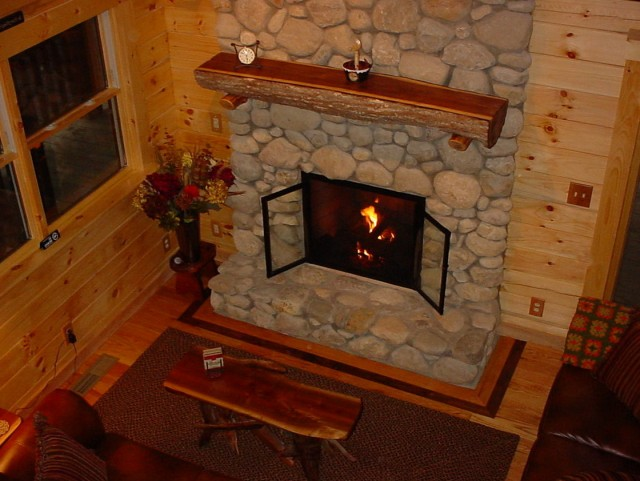 Gas Fireplace Rocks Home Depot