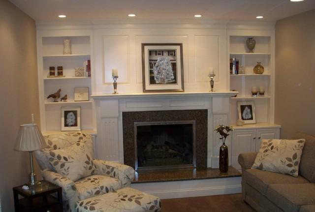 Ideas For Bookshelves Around Fireplace