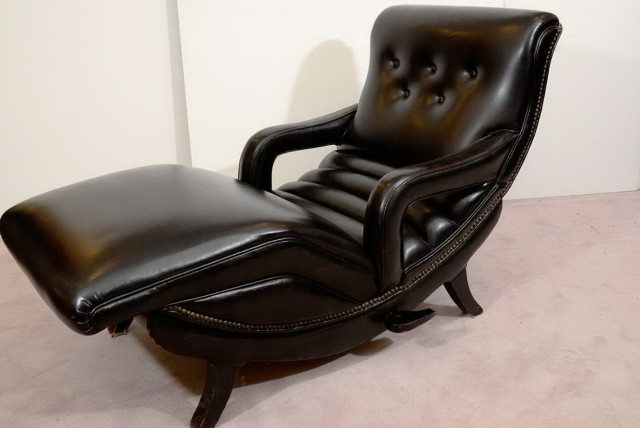 Leather Chaise Lounger