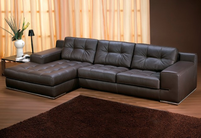 Leather Couch With Chaise Lounge