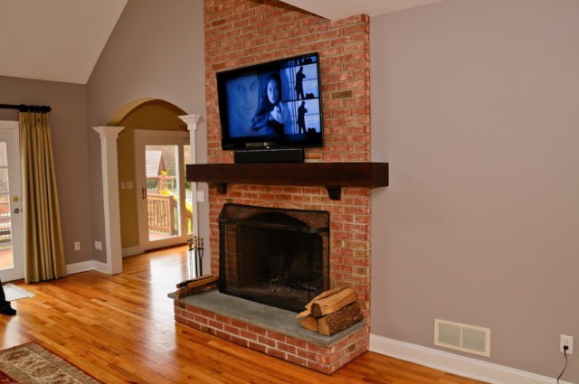 Mounting A Tv Over A Fireplace Into Brick