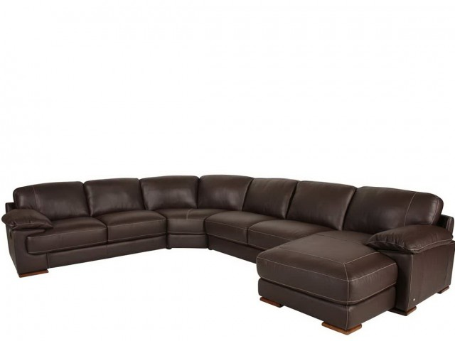 Natuzzi Leather Sofa With Chaise