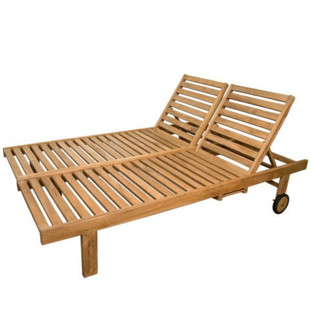 Outdoor Double Chaise Lounge Chairs