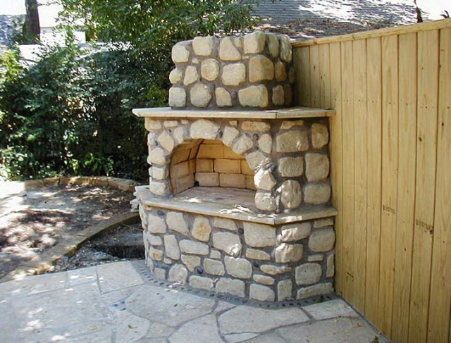 Outdoor Stone Fireplace And Grill Designs