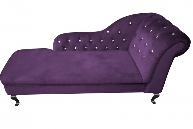 Purple Velvet Chaise Lounge