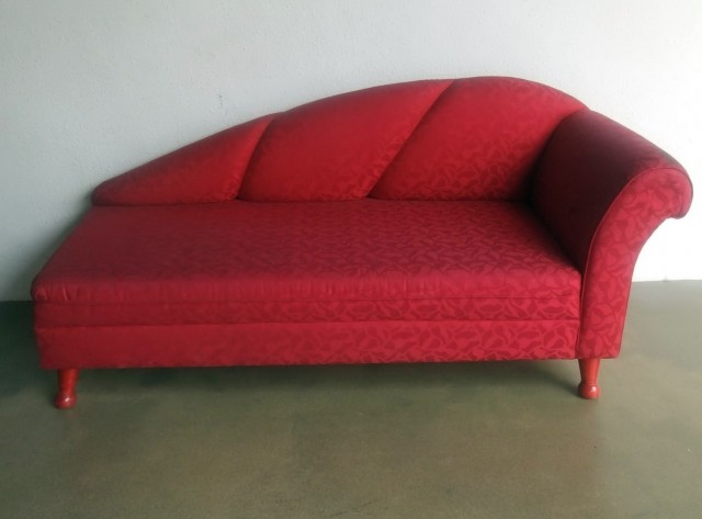 Red Chaise Lounge Sofa