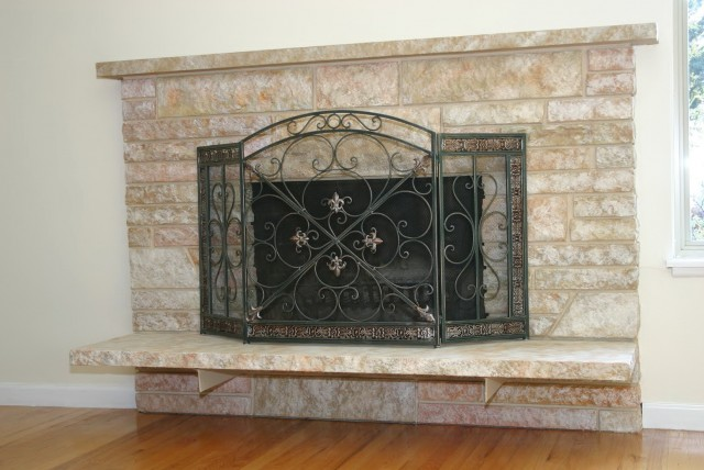 Refinish Old Brick Fireplace