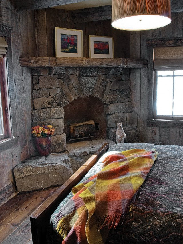 Rustic Stone Fireplace Ideas