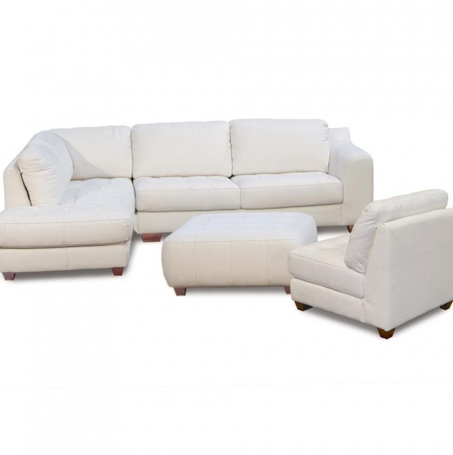Sectional Sofa With Chaise Lounge And Ottoman