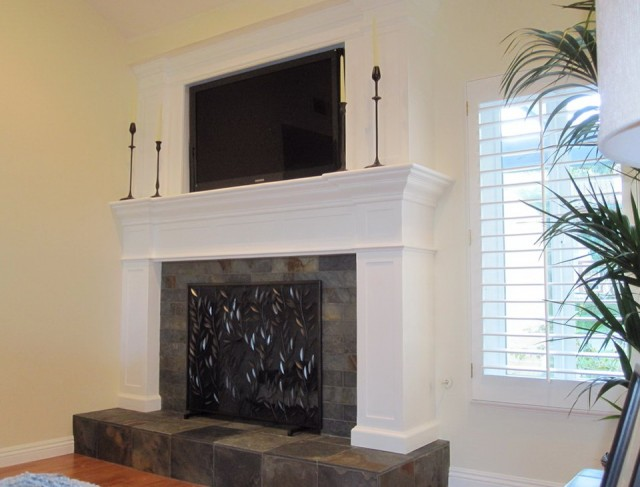 Slate Tile Fireplace Ideas