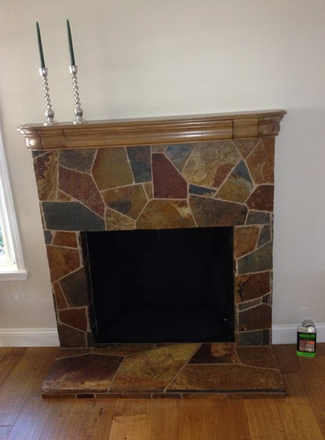 Slate Tile Fireplace Pictures