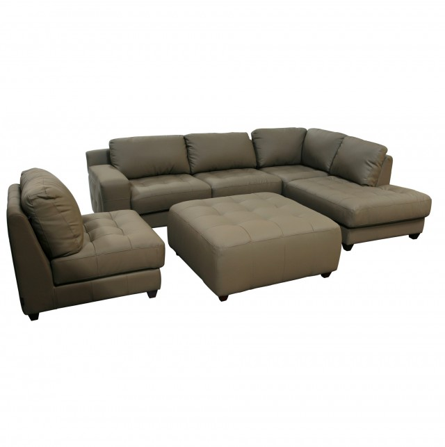 Sofa With Chaise And Ottoman