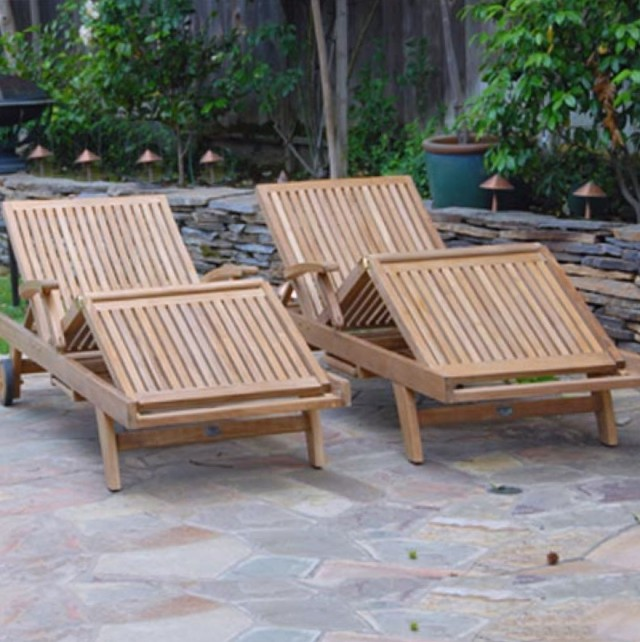 Teak Chaise Lounge Chairs Outdoor