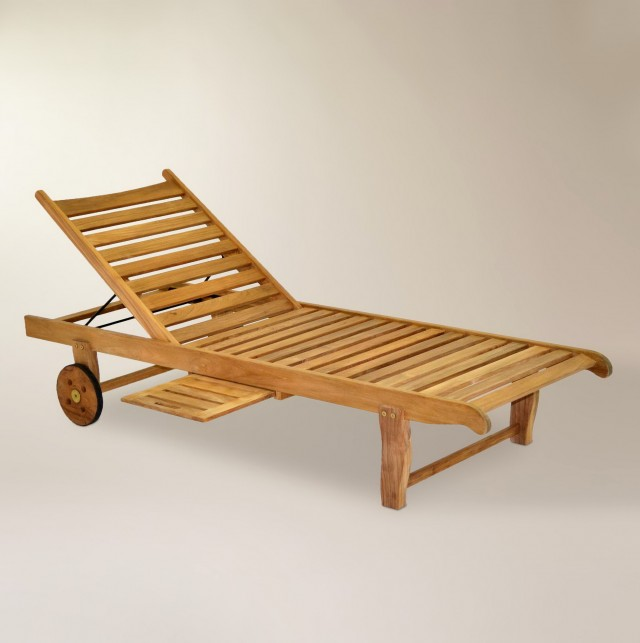 Teak Chaise Lounge Outdoor Furniture