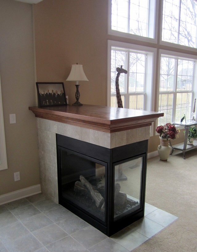 Three Sided Fireplace Designs