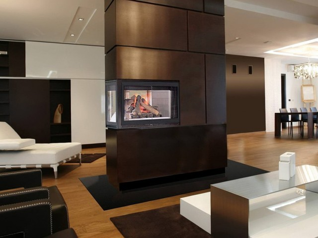 Three Sided Fireplace Images