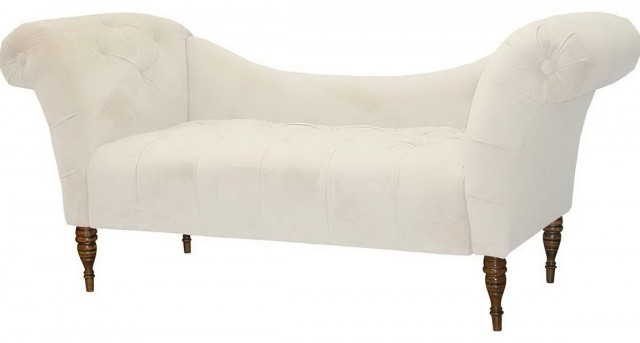 Tufted Chaise Lounge With Arms