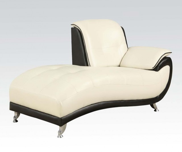 White Chaise Lounge Chair