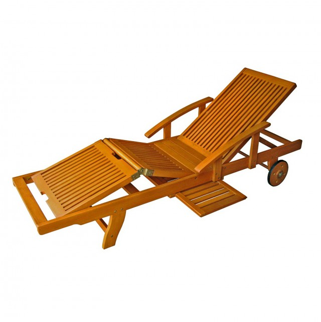 Wood Chaise Lounge Chairs Outdoor