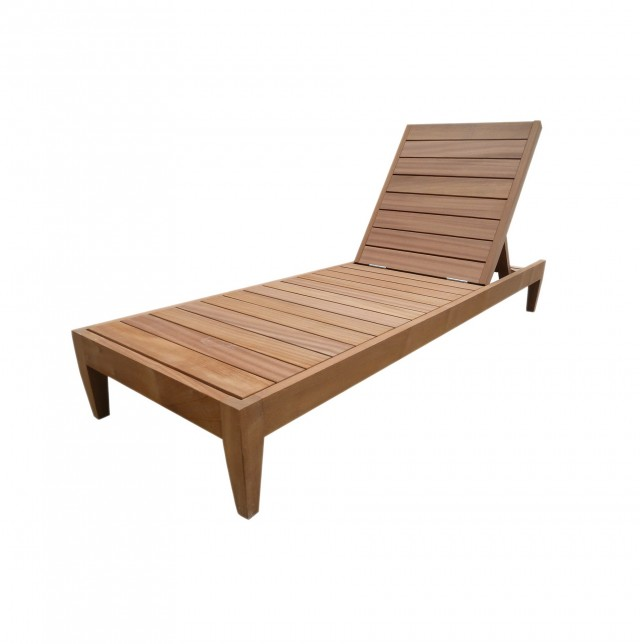 Wood Chaise Lounge Outdoor Furniture