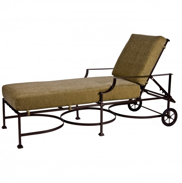 Wrought Iron Chaise Lounger