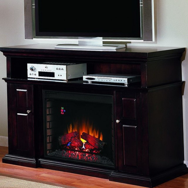 60 Inch Electric Fireplace Media Center