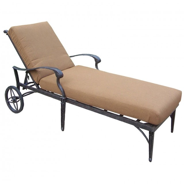 Aluminum Chaise Lounge With Wheels